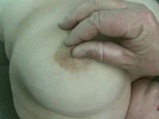 19 year old BBW Brandy's tits tickled and played with