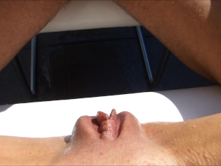 outside pee pissing battle extreme wet pussy vs cock who will win piss gam