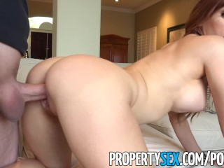 PropertySex – Petite redhead real estate agent fucks client
