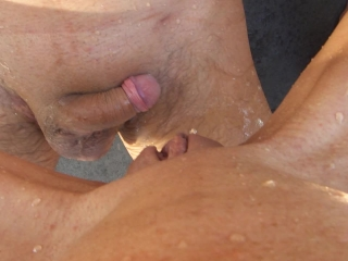new extreme wet piss game battle public outdoor pee girl pussy dick cock