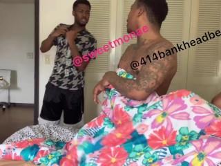 MUST WATCH!! Boyfriend walks in on ebony fucking 414bankheadbeeeep!!!