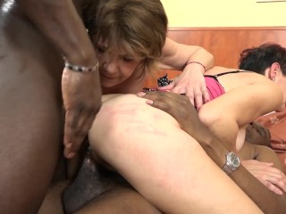 Time for grannies to experiment interracial anal sex and double ass fuck