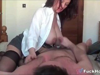 Sucking Lactating Mommy's Big Tits & Fucking Her Pussy