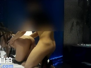 Rich Chinese girl with model's body getting fucked in the hotel