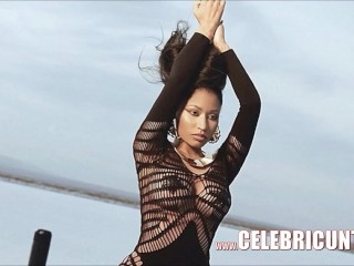 Naughty Celebrity Nicki Minaj Cum on Tits Leak