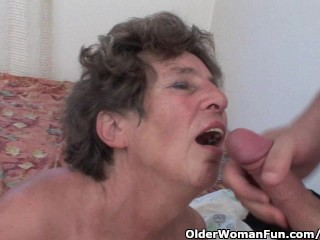 Cock Hungry Grandmother Loves Anal Sex