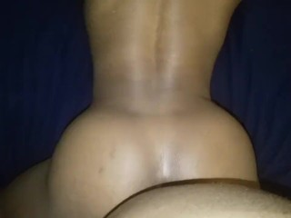 Hot ebony pov facefuck me and cum on ass daddy