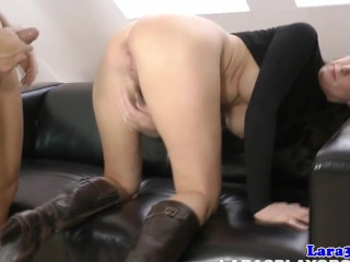 Bound mature euro gets cum on ass after fucked