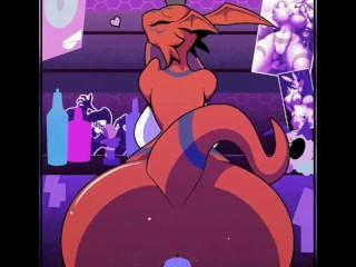 (R-MK, Sound by Lil-Edits) Guilmon Stripper Reverse Cowgirl (Sound and Cum)