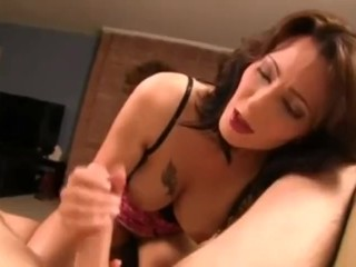 Mom Teases Son In pantyhouse until Cumshot