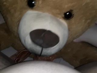 Cumming Hard on Mr Teddy 2