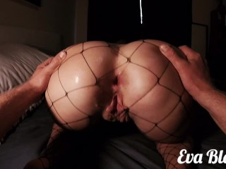 Teen Anal Fuck And Creamy Pussy Creampie In Fishnets – EvaBlonde