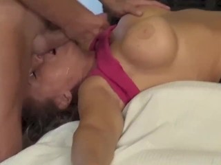 blowjob with cum on tits