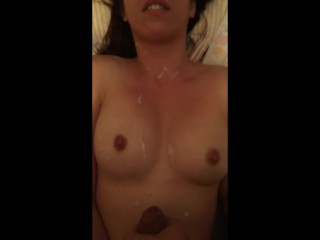 Cumming all over me, while I orgasm