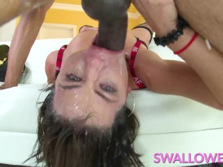 SWALLOWED Adriana Chechik face fucked by a BBC