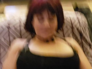 Big Tit Goth Tattooed Thick MILF Sucks Fucks Married Neighbor cum bubble