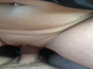 Best public car sex EVER! Hot slutty MILF rides cock & squirts w/creampie