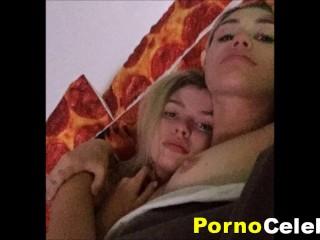 Miley Cyrus Goes Mental Genuine Pissing & Lesbian Homemade