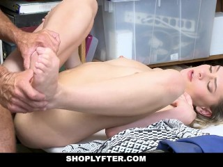 ShopLyfter – Blonde Teen Thief Fucked By Security Guard