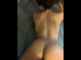 Cheating black girl with fat ass twerks on huge white cock