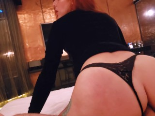 Fuck my ass hard and cum on my strings – Amateur Maru Karv RedHead Teen