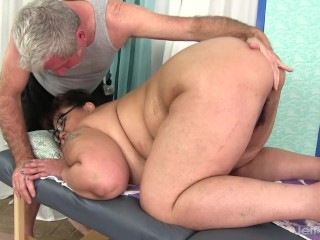 Hairy SSBBW with glasses