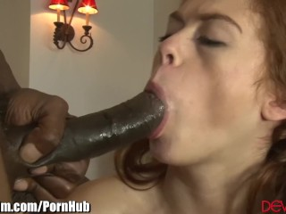 Redhead Teen gets Step-Dads Big Black Cock