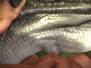 Blue in : Jurassic Camping _ Raptor sex animation