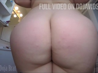 PAWG CLAPS BIG BOOTY, WINKS ASSHOLE AND SPREADS FAT ASS