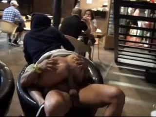 Sexy blonde teen fuck in public