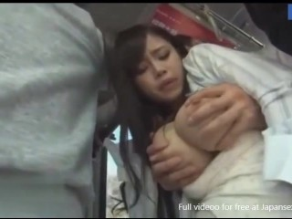 Japanese Milf Touched and Fucked in Crowded Bus by Chikan