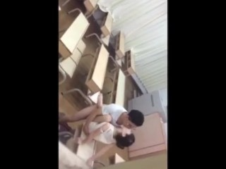 Chinese student fucking in school…..Teacher caught student red handed
