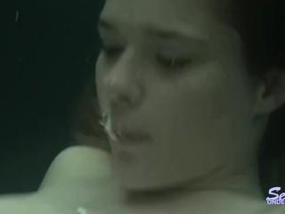Underwater lesbian sex