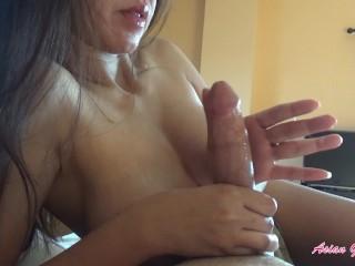 So much cum! Slow edging handjob with unreal cum explosion