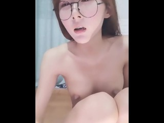 Cute Chinese Glasses Girl Live Fuck 7