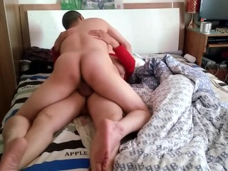 Chinese granny creampied by young dude