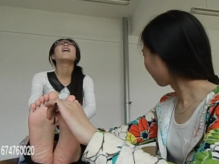 Chinese Tickling, Teacher Gets Racked and Tickled by Students