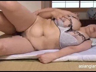 Japanese Mother with Giant L-cup Boobs