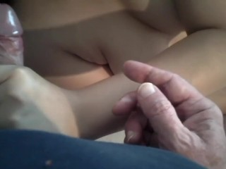 Chubby Chinese girl gets fucked by old man and loves it – Full clip