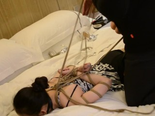 Very beautiful Chinese college student model playing bondage #4