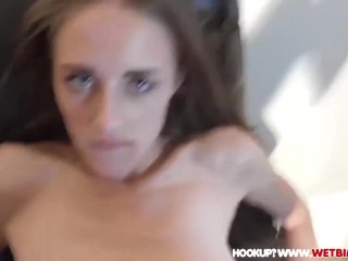 SKINNY TEEN FUCKS STEP DADDY