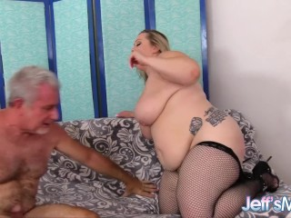 Fucking with a blond BBW