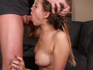 Sloppy and Rough BlowJob! Deep Throat, Face Fuck & Swallow Cum! Very HOT!