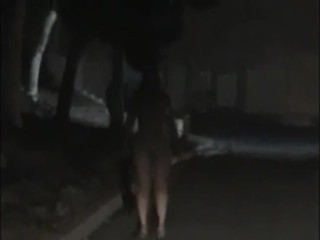 drunk girl gets horny in parking lot