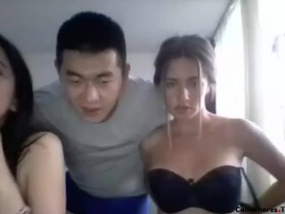 2 Girls and 1 Lucky Chinese Guy. Part 1 – 5 at Comment Section Download Now