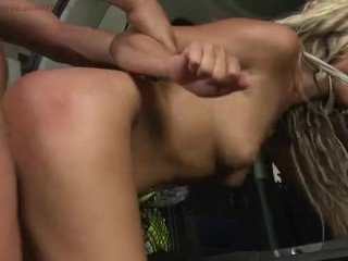 White Angel (Gytta) Punished in car wash