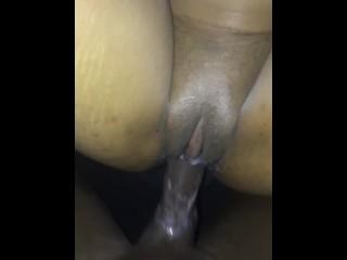 Creamy pussy car sex