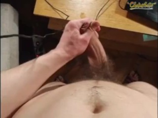 Hairy, Uncut White Male Solo Cam Jack Off
