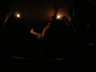 Teens having sex in back of car on hidden cam