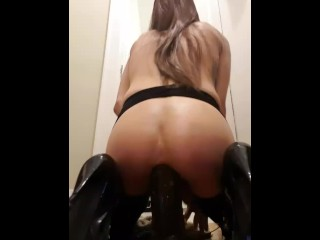 Anal dildo in my hooker boots